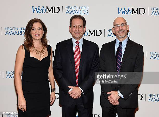 EditorinChief of WebMD Kristy Hammam CEO of WebMD David Schlanger and President of WebMD Steve Zatz MD arrives at the 2014 Health Hero Awards hosted...