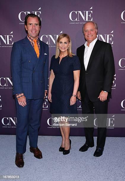 EditorinChief of Wired Scott Dadich President of Conde Nast Entertainment Dawn Ostroff and President of Conde Nast Bob Sauerberg attend the Conde...