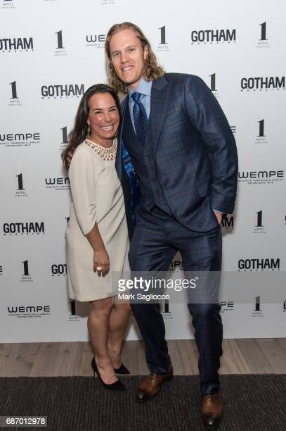 EditorinChief Samantha Yanks and New York Mets Pitcher Noah Syndergaard attends Gotham Magazine's Celebration of it's Late Spring Issue with Noah...