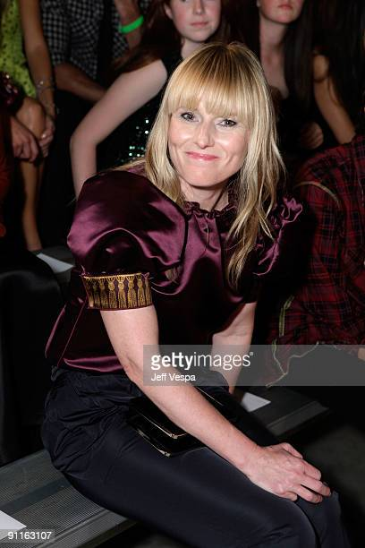 Editorinchief Teen Vogue Amy Astley poses during the 7th Annual Teen Vogue Young Hollywood Party held at Milk Studios on September 25 2009 in...