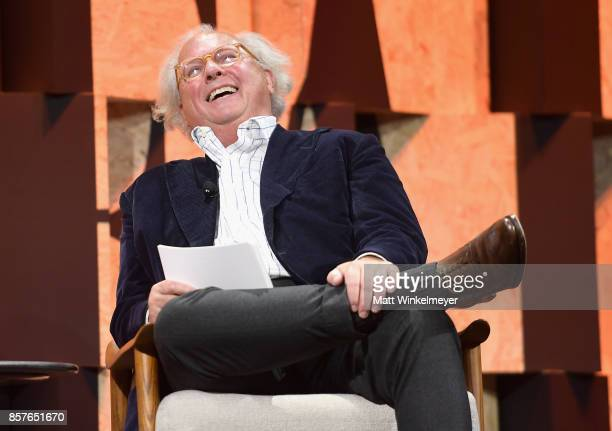 Editorinchief US Vanity Fair Graydon Carter speaks onstage during Vanity Fair New Establishment Summit at Wallis Annenberg Center for the Performing...