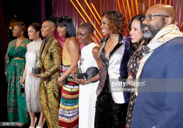 ESSENCE EditorinChief Vanessa K De Luca Honorees Tessa Thompson Lena Waithe Tiffany Haddish Danai Gurira Host Yvonne Orji President Essence...