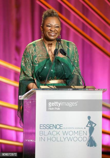 EditorinChief Vanessa K De Luca speaks onstage during the 2018 Essence Black Women In Hollywood Oscars Luncheon at Regent Beverly Wilshire Hotel on...
