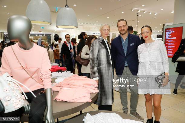 Editorinchief VOGUE Germany Christiane Arp member of the executive board Peek Cloppenburg KG Duesseldorf John Cloppenbueg and designer Marina...