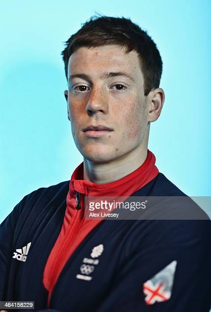 Editors note A high pass filter has been applied to this image Andrew Musgrave of Team GB Cross Country Skiing poses for a portrait during the...