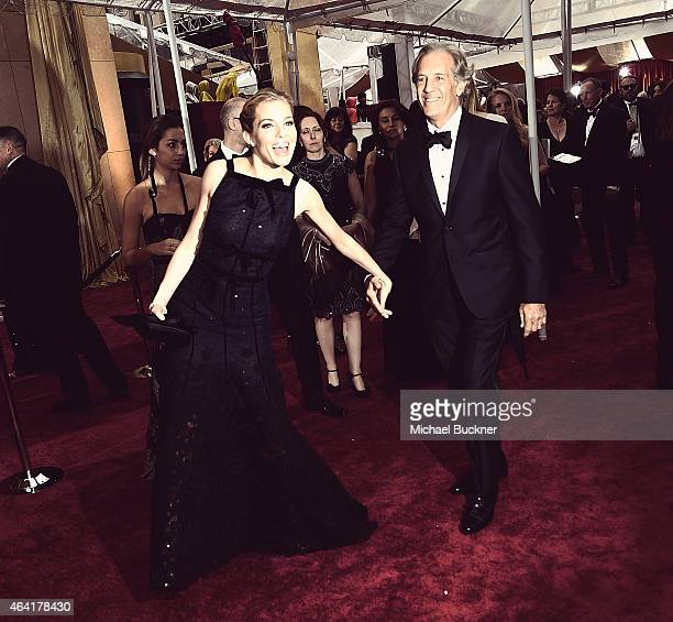 Editors Note Actress Sienna Miller and her dad Edwin arrive at the 87th Annual Academy Awards at Hollywood Highland Center on February 22 2015 in...