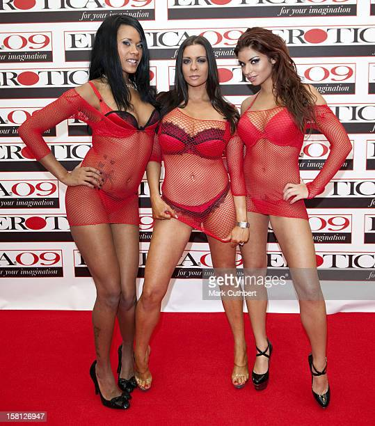 ** Editors Note Content ** Keisha Kane Linsey Dawn Mackenzie And Krystal Webb At The 2009 Erotica Show At Olympia In London