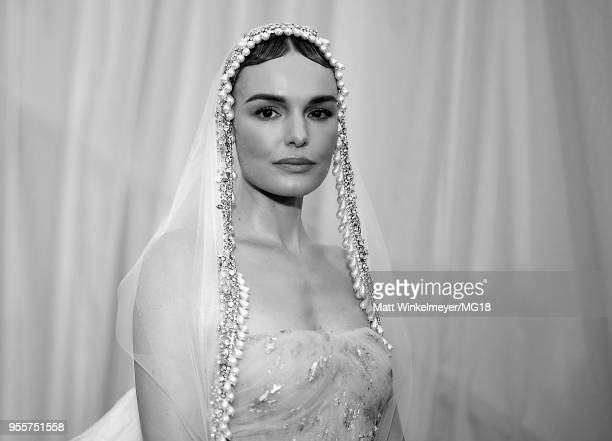 [Editor's Note Image Has Been Converted to Black and White] Kate Bosworth attends the Heavenly Bodies Fashion The Catholic Imagination Costume...