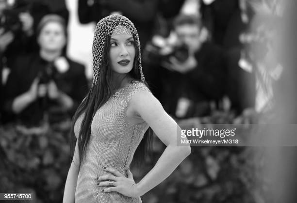 Editor's Note: Image Has Been Converted to Black and White] Olivia Munn attends the Heavenly Bodies: Fashion & The Catholic Imagination Costume...