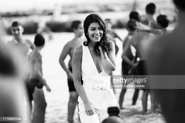 [Editor's Note Image was converted to black and white] Alessandra Mastronardi attends a photocall at the 76th Venice Film Festival on August 27 2019...
