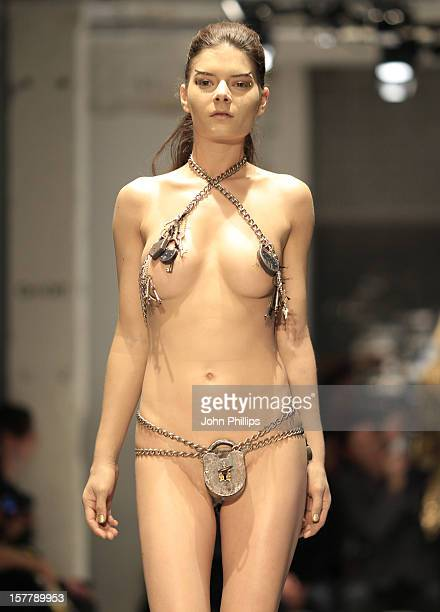 Editors Note Nudity A Model On The Catwalk At The Pam Hogg Fashion Show As Part Of London Fashion Week Spring/Summer 2011 Held At The On/Off Venue In...