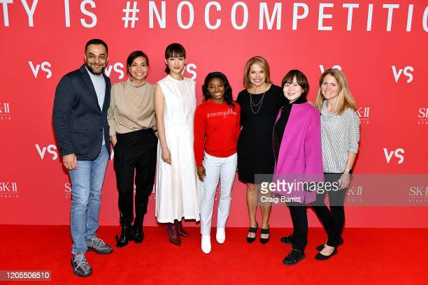 [Editor's Note This image has been digitally altered] Sandeep Seth Kaisy O'Reilly Haruka Ayase Simone Biles Katie Couric Yoegin Chang and Jenny...