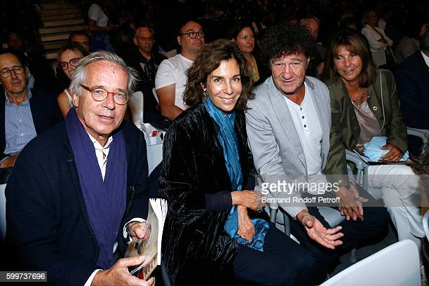 Editors Olivier Orban his wife Christine Orban Robert Charlebois and his wife Laurence attend the La Boheme Opera en Plein Air Premiere at Les...