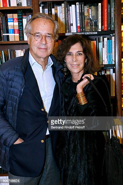 Editors Olivier Orban with his wife Christine Orban attend Princess Gloria Von Thurn und Taxis signs her Book 'The House of Thurn und Taxis' Held at...