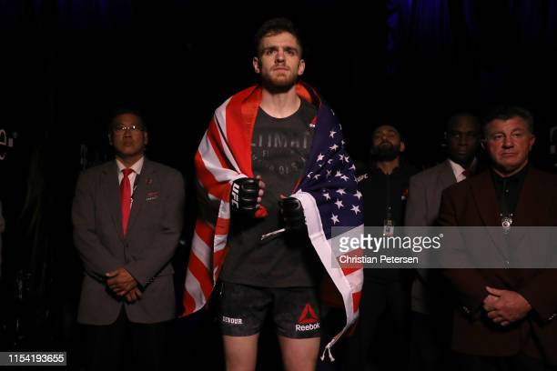 Edmen Shabazyan walks to the octagon in his welterweight fight during the UFC 239 event at TMobile Arena on July 6 2019 in Las Vegas Nevada