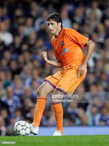 Edmilson of Barcelona in action during the UEFA Champions League Group A match between Chelsea and Barcelona at Stamford Bridge on October 18 2006 in...