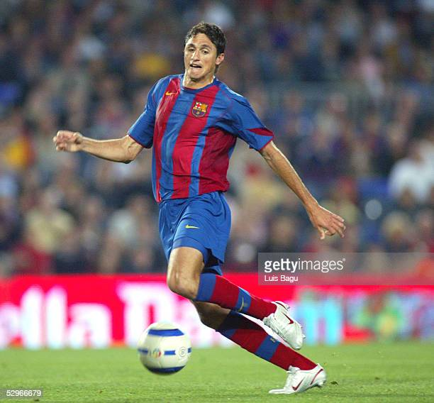 Edmilson of Barcelona is seen in action during the La Liga match between FC Barcelona and Villarreal on May 22 2005 at Camp Nou stadium in Barcelona...