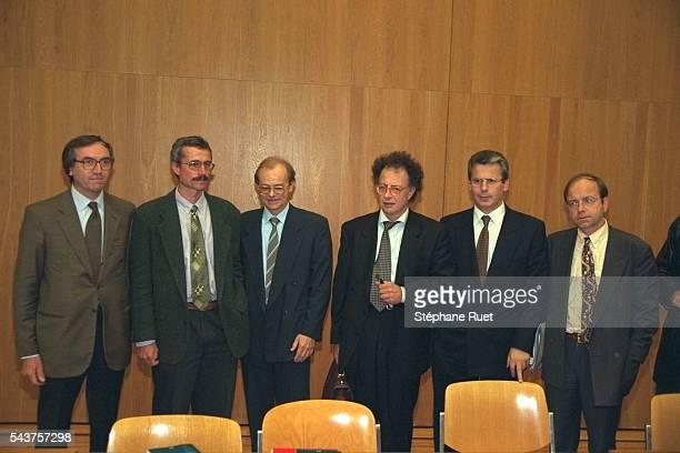 Edmond Bruti Liberati, Renaud Van Ruymbeke, Bernard Bertossa, Gherardo Colombo, Baltasar Garzon et Benoit Dejemeppe.