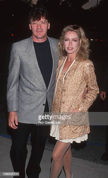 Edmond Stevens and Donna Mills during ABC Kick Off Party at Pacific Design Center in West Hollywood California United States