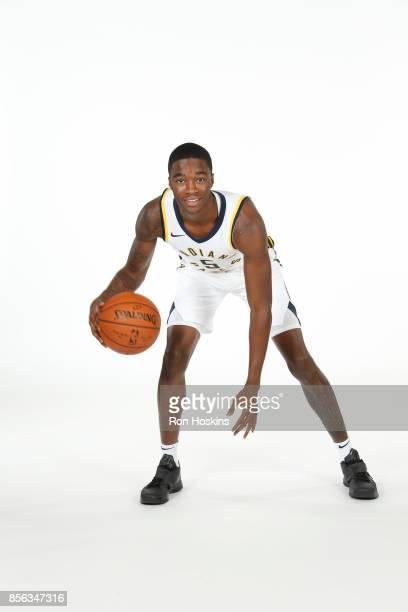 Edmond Summer of the Indiana Pacers poses for a portrait during the Pacers Media Day at Bankers Life Fieldhouse on September 25 2017 in Indianapolis...