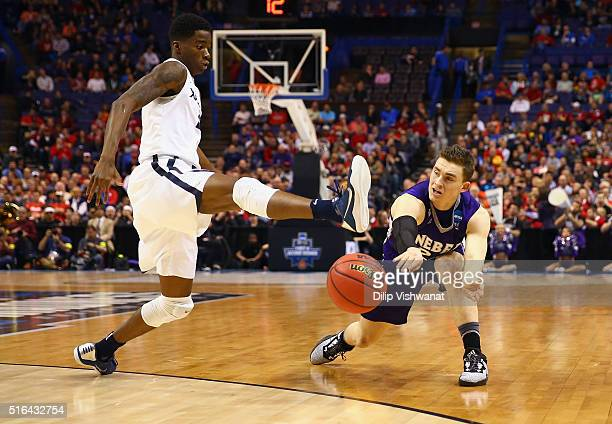 Edmond Sumner of the Xavier Musketeers attempts to block a pass by McKay Cannon of the Weber State Wildcats in the first half of their game during...