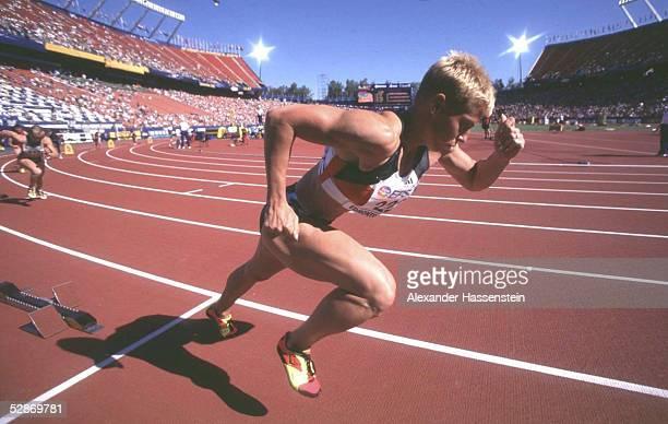 WM 2001 Edmonton 400m Vorlaeufe/Frauen Grit BREUER/GER