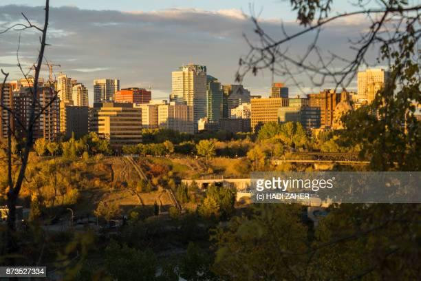 Edmonton Cityscape at sunset