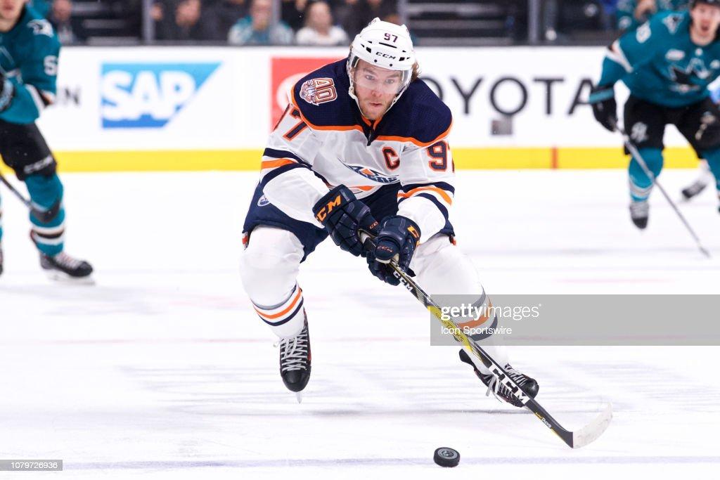 NHL: JAN 08 Oilers at Sharks : News Photo