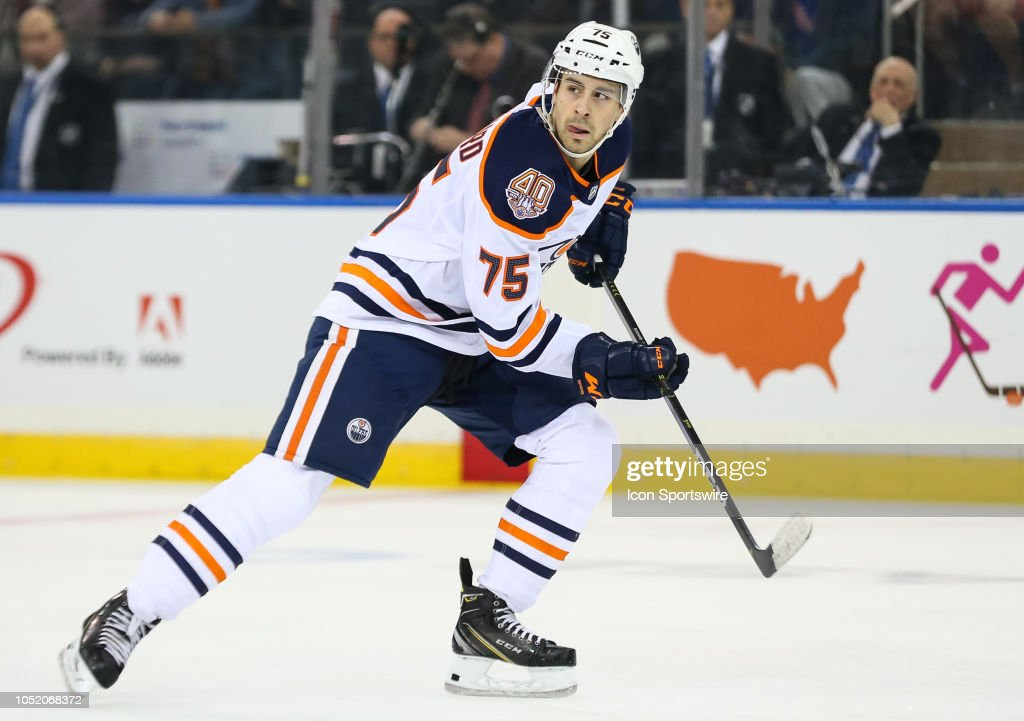NHL: OCT 13 Oilers at Rangers : News Photo