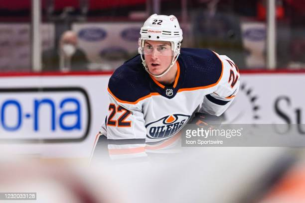 Edmonton Oilers defenceman Tyson Barrie waits for a face-off during the Edmonton Oilers versus the Montreal Canadiens game on March 30 at Bell Centre...