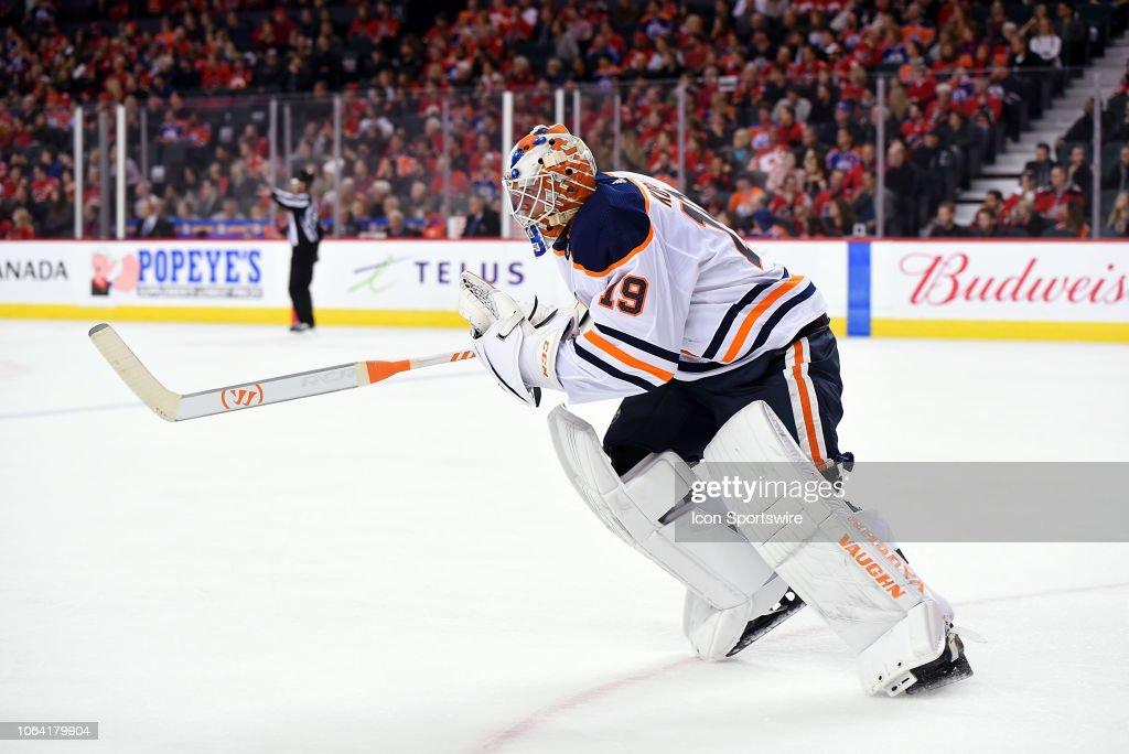 NHL: NOV 17 Oilers at Flames : News Photo