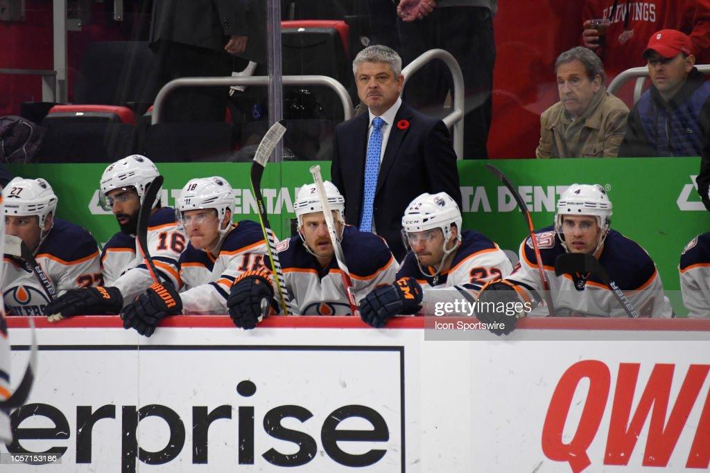 NHL: NOV 03 Oilers at Red Wings : News Photo