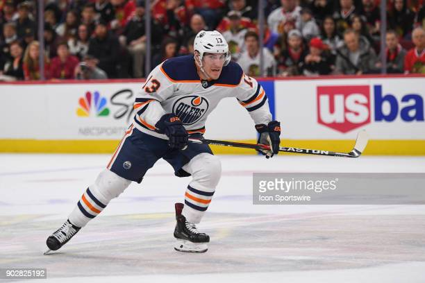 Edmonton Oilers left wing Michael Cammalleri skates during a game between the Chicago Blackhawks and the Edmonton Oilers on January 7 at the United...
