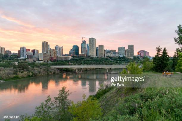 Edmonton Skyline along Saskatchewan River