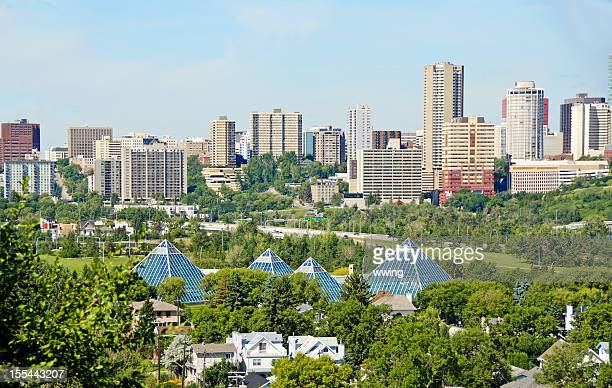 Edmonton Skyline And Muttart Conservatory
