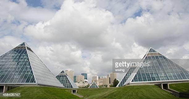 Edmonton Skyline And Muttart Conservatory