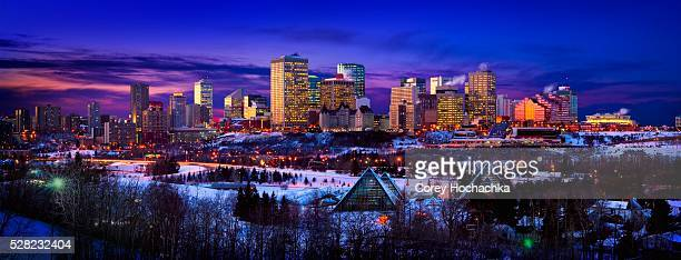 Edmonton Skyline During Winter