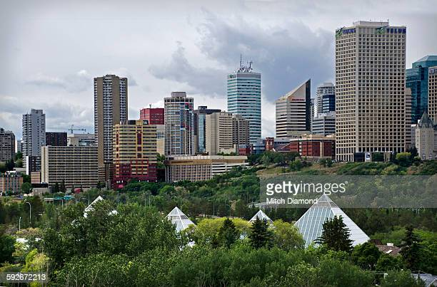 Edmonton skyline with Muttart conservatory