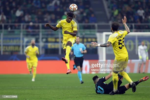 Edmund Addo of FC Sheriff in action during the Uefa Champions League Group D match between FC Internazionale and FC Sheriff. Fc Internazionale wins...