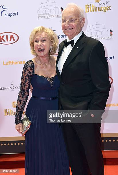 Edmund and Karin Stoiber attend the German Sports Media Ball at Alte Oper on November 7 2015 in Frankfurt am Main Germany