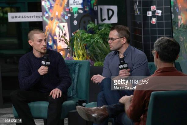 Edmund Donovan and Sam Hunter attend Build Series to discuss the play Greater Clements at Build Studio on January 07 2020 in New York City