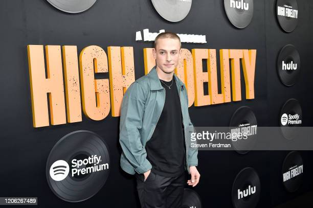 Edmund Donovan attends Hulu's High Fidelity New York premiere at Metrograph on February 13 2020 in New York City