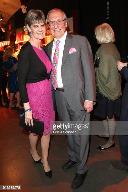 Edmund Edi Reinbold and his wife Petra Reinbold during Michael Kaefer's 60th birthday celebration at Postpalast on February 2 2018 in Munich Germany