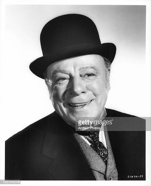 Edmund Gwenn wearing hat in a scene from the film 'It's A Dog's Life' 1955