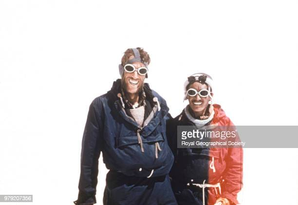 Edmund Hillary and Tenzing Norgay after their ascent of Everest Nepal 30 May 1953 Mount Everest Expedition 1953