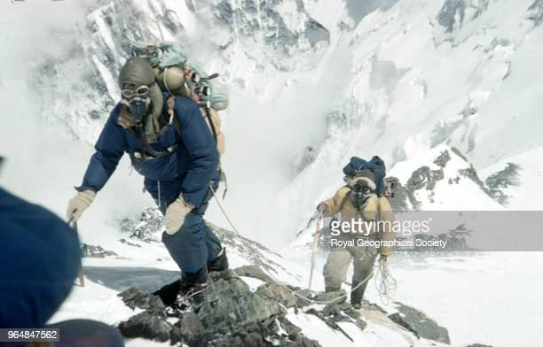 Edmund Hillary and Tenzing Norgay approaching 28000 feet Edmund Hillary and Tenzing Norgay approaching 28000 feet at the site of Camp IX Nepal 28th...