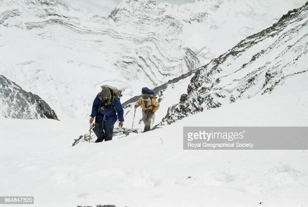 Edmund Hillary and Tenzing Norgay approaching the South East ridge Nepal 28th May 1953 Mount Everest Expedition 1953