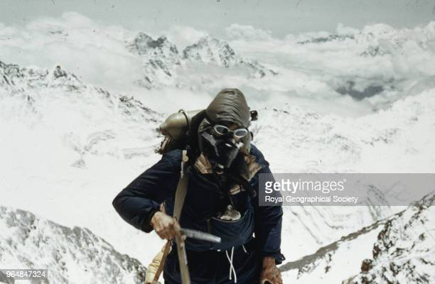 Edmund Hillary on the South East ridge of Everest Nepal 28th May 1953 Mount Everest Expedition 1953