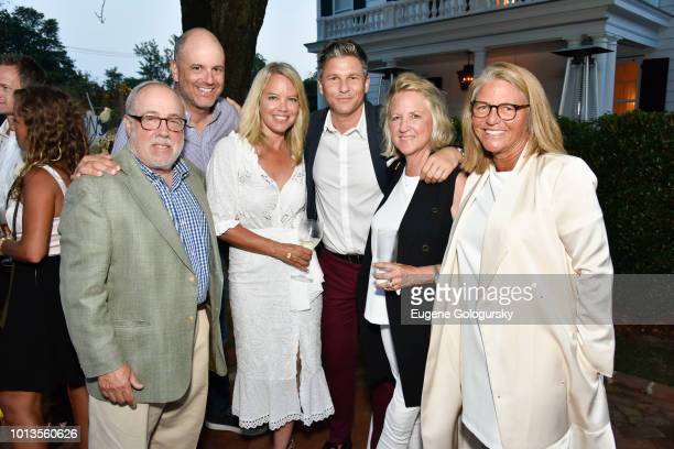 Edmund Hollander John Muse Chrissy Muse Roxanne Briggs and Jessica Ambrose attend the Hamptons Magazine And Saks Fifth Avenue Celebration of Cover...