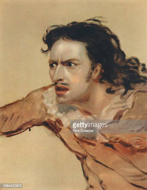 Edmund Kean as Sir Giles Overreach in a New Way To Pay Old Debts', circa 1816, . Edmund Kean - celebrated British Shakespearean stage actor drove the...